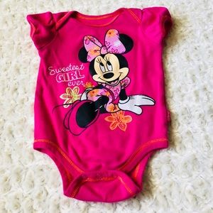 Minnie Mouse Pink Onsie
